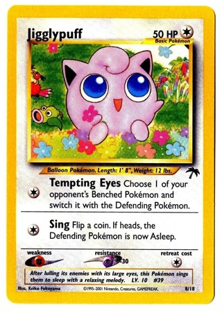 Island Edition Jigglypuff 8/18 Pokemon Card Southern Islands Collection Promos Pokemon Cards TCG