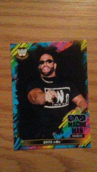 WWE 2018 Macho Man Tribute Card
