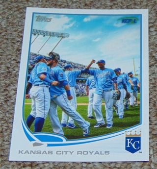 National baseball Card Day Kansas City Royals Team Set SGA