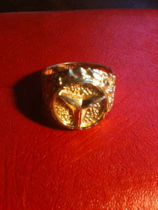 free gold nugget mercedes mens ring rings. Black Bedroom Furniture Sets. Home Design Ideas