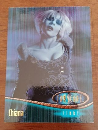 Two Scify channels show - Farscape / Chiana Trading Cards