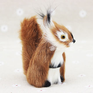 [GIN FOR FREE SHIPPING] Squirrel Ornament Decor Hanging Tree Fleece Adornment Christmas