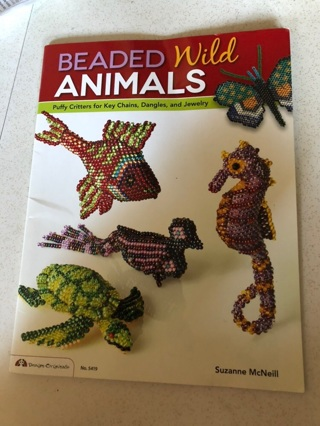 Beaded Wild Animals Puffy Critters for Keychains, Dangles and Jewelry Booklet