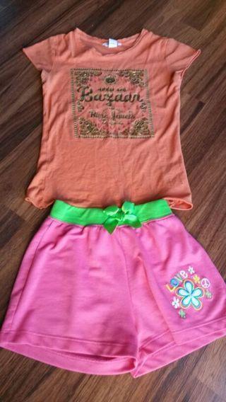 tshirt and shorts set girl size 7T