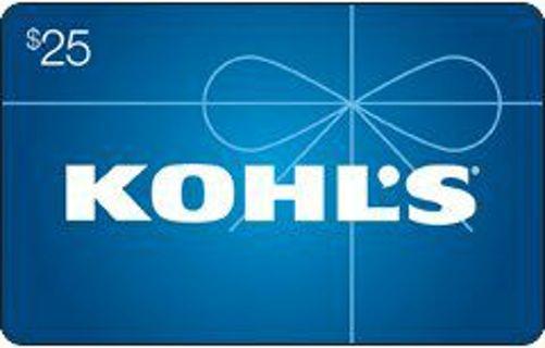 Khols $25 Gift Card