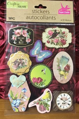 3-D Floral, Bird, Butterflies, etc. Stickers