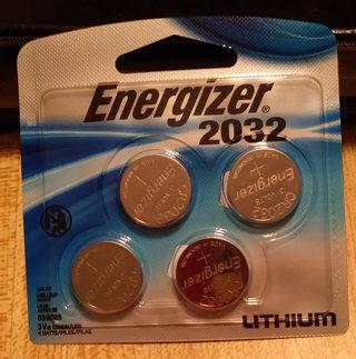 Energizer 2032 Coin batteries (x4)