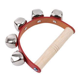 Baby Toy Toddler Puzzle Instrument Five Bells Leather Hand Bells For Home Acce