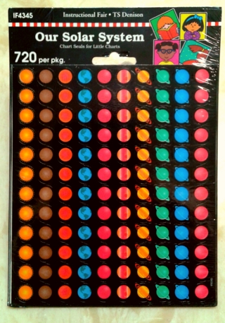 "720 Stickers - ""Our Solar System"" BNIP"
