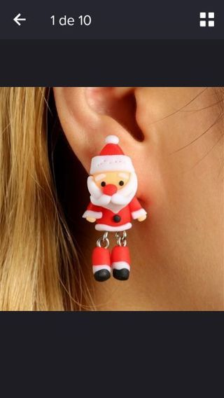 Christmas Pattern 1 Pair Earrings