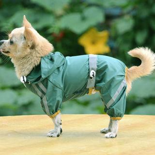 [GIN FOR FREE SHIPPING] Dog Rain Coat Jacket Cute Casual Waterproof