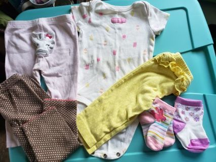 6/9m baby girl play clothes