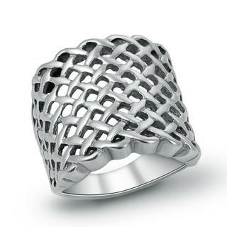 316L Stainless Steel Top Fashion Silver Mens Mesh Ring Jewelry Size 7 8 9 10 11