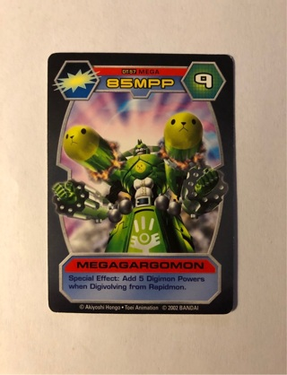 2002 Bandai Mega Megagargomon  Digimon Detector Collectable Game Trading Card
