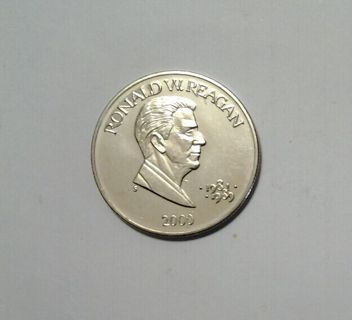2000 Republic Of Liberia 5 Dollars Coin Ronald Reagan Presidents