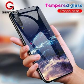 Tempered Glass Phone Case For Samsung Galaxy A7 2018 A750 J4 J6 Plus 2018 Coque Cover Silicone Bum