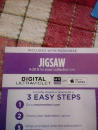 Jigsaw VUDU Code