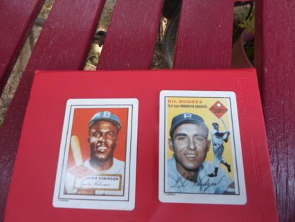 1990 (Jackie Robinson/Gil Hodges) porcelin Topps Baseball Cards