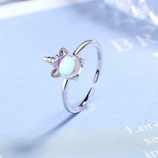 [GIN FOR FREE SHIPPING] New Exquisite Color Moonstone Unicorn Opening