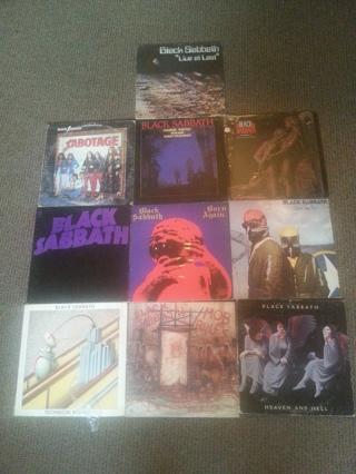 Lot of 10 Black Sabbath old Records.