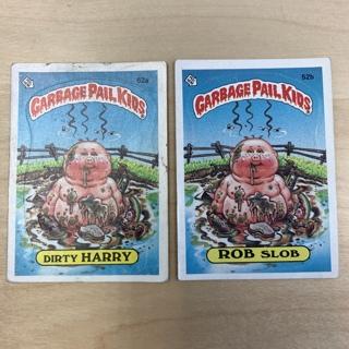 Garbage Pail Kids Series 2: Dirty Harry & Rob Slob #52a #52b