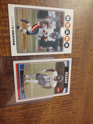 Two card lot football Devin Hester when I'm looking included Chicago bears