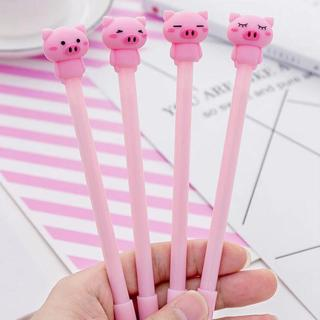 Pink Pig Shape Shell Gel Pen DIY Office Stationery and School Supplies Smooth Writing Black and Bl