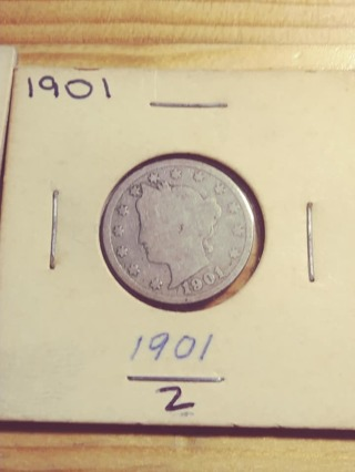 1901 Liberty V Nickel with Nice Full Date! 225