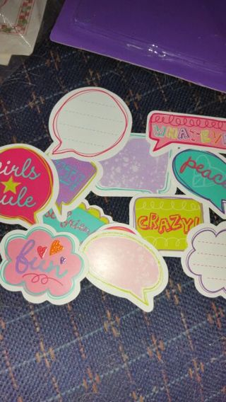 Die cut paper icons and words scrapbooking stationary gifts, and a lot more