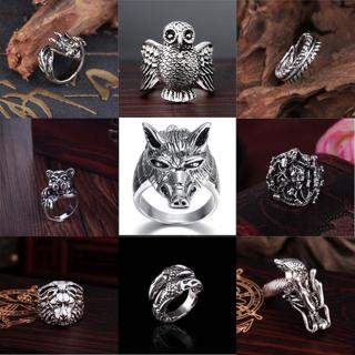 Wholesale Mens Stainless Steel Gothic Punk Motorcycle Biker Rings Jewelry 8-11