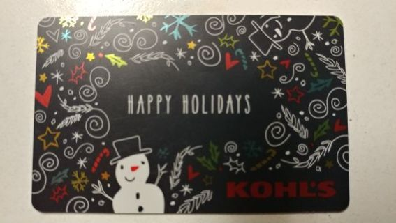 $30 KOHLS DEPARTMENT STORE GIFT CARD $ *** Extremely LOW G.I.N. ***