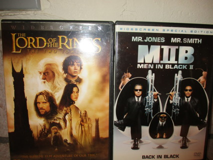 DVD TWO GREAT MOVIES-LORD OF THE RINGS-MEN IN BLACK 2/2 DISC EACH!
