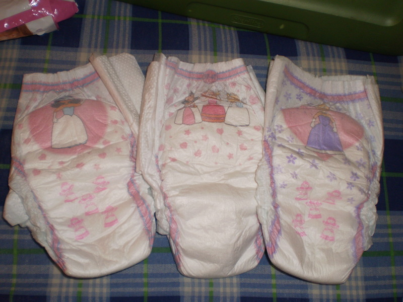Free: 3 Girl Princess Pull-up Diapers 3t-4t - Baby Diapers ...