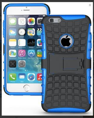 1 NEW iPHONE 6 PLUS HYBRID Case Scratch-Resistant Shock Absorbent Non Slip Tire Grip w/ Stand