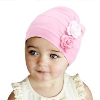 New Flower Design Baby Hats Fashion Children's Cotton Hat Girls India Cap Baby Beanie Cap Accessor