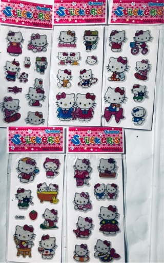 5 PACKS Hello Kitty Stickers