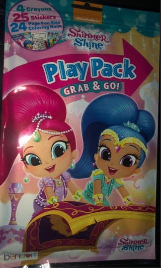 """BNIP Nickelodeon's: """"SHIMMER and SHINE"""" Play Pack w/Markers, Coloring Book & Stickers!"""