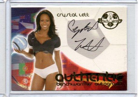 2006 Benchwarmer Crystal Lett World Cup Autograph