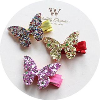 MIXIU Glitter Flower/crown/butterfly/rabbit/leaf Hairpin Boutique Hair Clips Cool  Headwear For Ba
