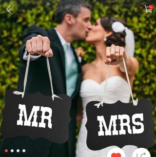 Mr. And Mrs. Wedding Hand Signs