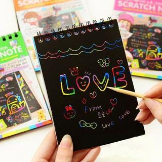 Kids Magic Scratch Art Painting Paper Book Toys w/ Drawing Stick Educational