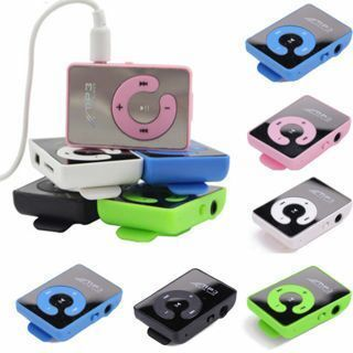 Fashion Mini Mirror Clip USB Digital Mp3 Music Player Support 8GB SD TF Card New