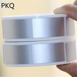 40pcs/pack 23x42mm/25x25mm silver adhesive SCRATCH OFF stickers DIY manual Label Tape hand made s
