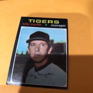 Free 1971 Topps Billy Martin Baseball Card Sports Trading
