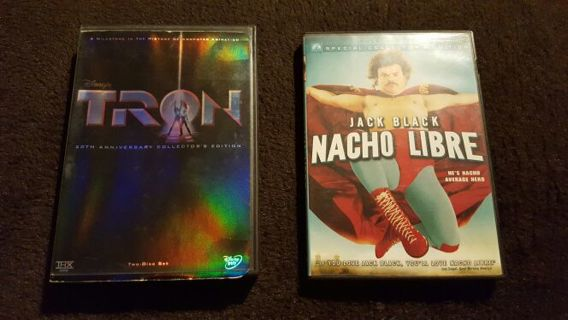Dvd 2 movie special Nacho Libre & Tron 20th Anniversary
