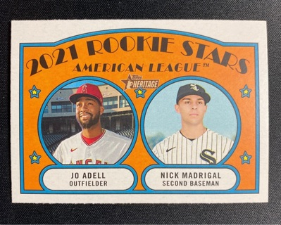 2021 Topps Heritage Jo Adell - Nick Madrigal Rookie Stars #187