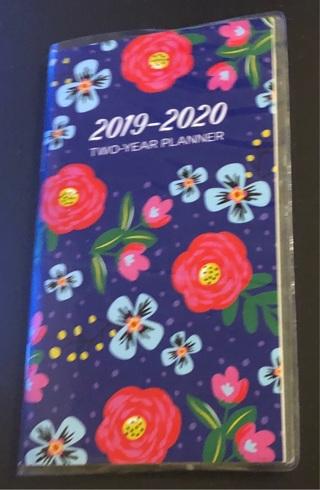 BNIP Very Pretty, 24 Month, Flowered Pocket Calendar. FREE Shipping!