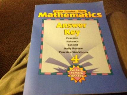 MATHEMATICS ANSWER KEY GRADE 4
