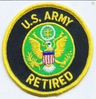 NEW USA ARMY RETIRED IRON ON Patch Military U.S.A. Veteran War Buddies FREE SHIPPING