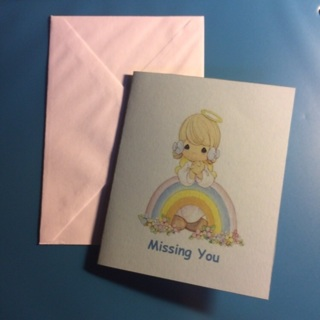 Precious Moments Blank Note Card w/Envelope ~ MISSING YOU! ~ NEW!